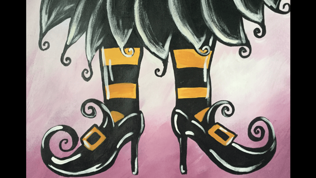 witch shoes acrylic painting tutorial for beginners
