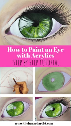 paint a realistic eye with acrylics