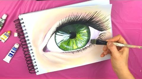 realistic eye paint step by step