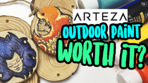 Arteza Outdoor Acrylic Paint & Wood Slices | Art Supply Review