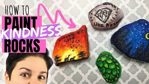 how to paint kindness rocks tutorial