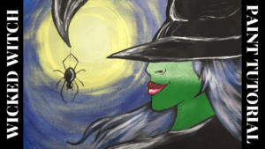 Wicked Witch Acrylic Painting Tutorial for Beginners | Halloween