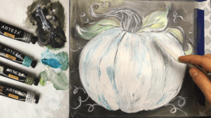 Fall Pumpkin Palette Knife Painting | Acrylic Painting Tutorial for Beginners