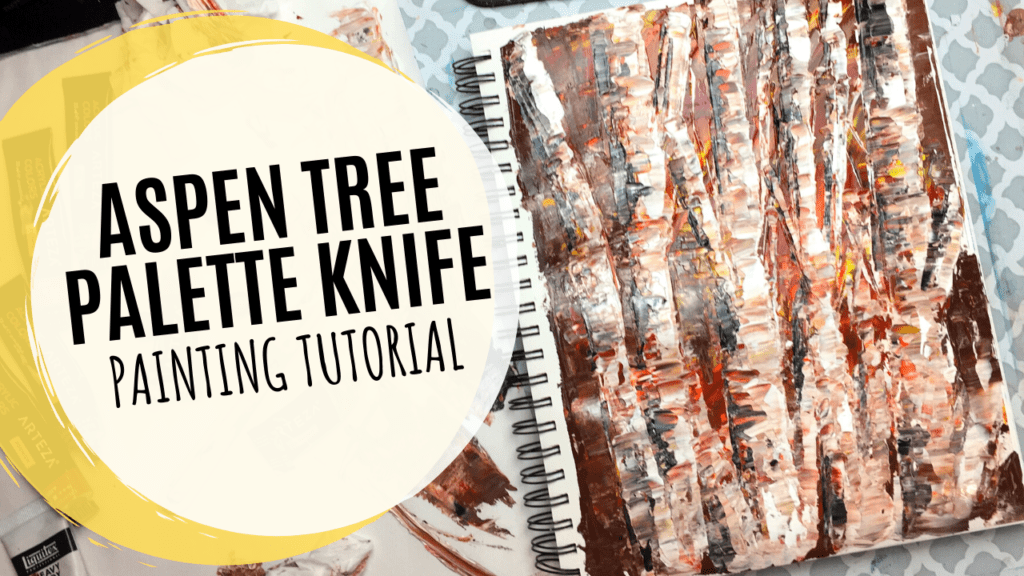 palette knife painting tutorial techniques trees