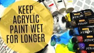 5 Easy Ways to Keep Acrylic Paint on Canvas Wet