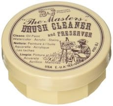 Master's Brush cleaner and preserver for acrylic paint brush repair and upkeep