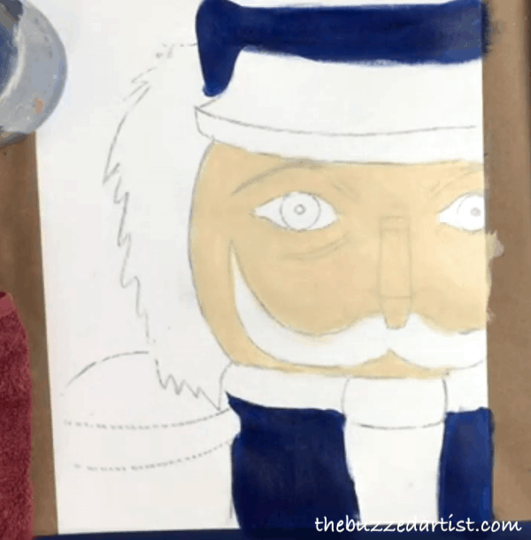 pop art Nutcracker acrylic painting tutorial for beginners body suit