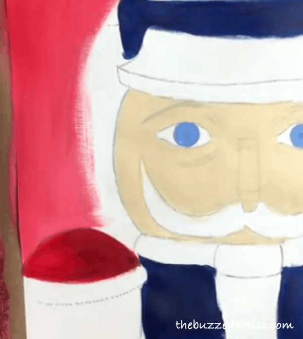 pop art Nutcracker acrylic painting tutorial for beginners background