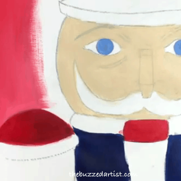 pop art Nutcracker acrylic painting tutorial for beginners mouth piece