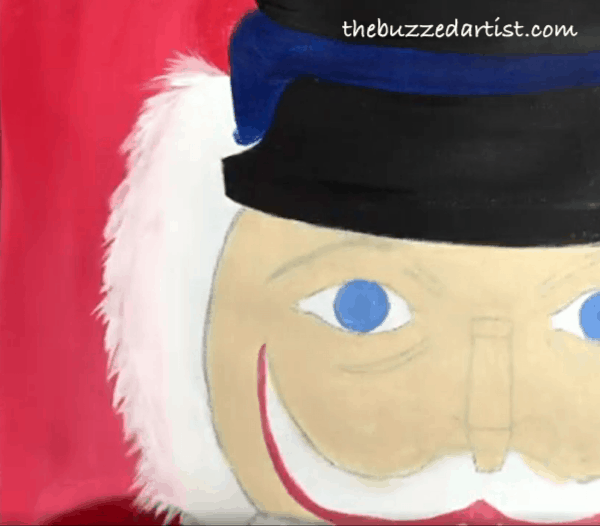pop art Nutcracker acrylic painting tutorial for beginners hair complete
