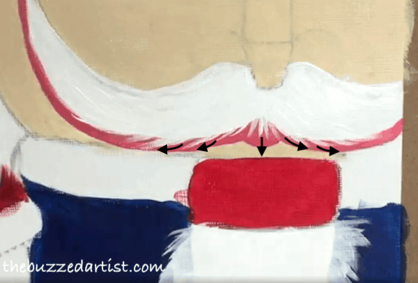 pop art Nutcracker acrylic painting tutorial for beginners mustache whiskers
