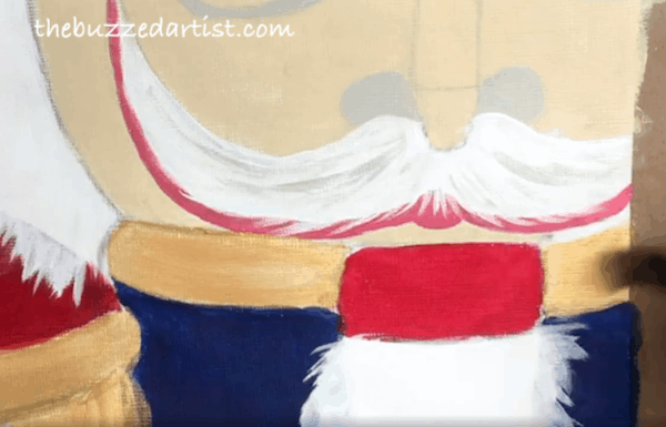 Nutcracker acrylic painting tutorial for beginners collar
