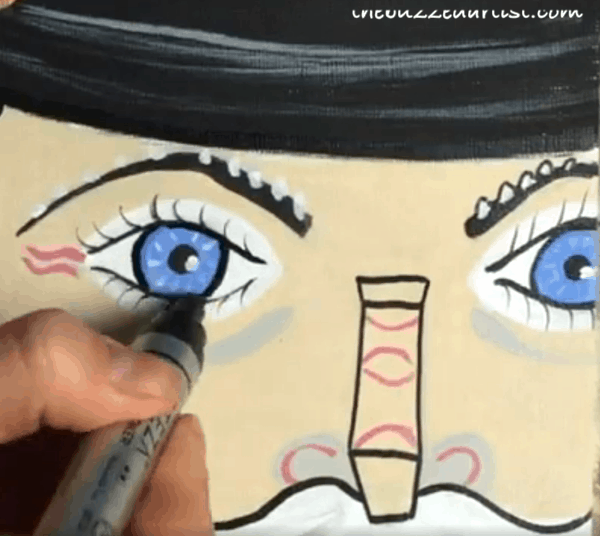 pop art Nutcracker acrylic painting tutorial for beginners add more outlines