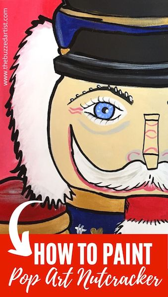 Nutcracker acrylic painting tutorial for beginners pin