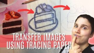 transfer any image with tracing paper
